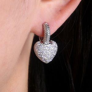 New Sterling Silver Heart Earrings
